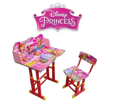 Kids Children Home Study DISNEY PRINCESS Table Storage Cartoon Desk Stool Set
