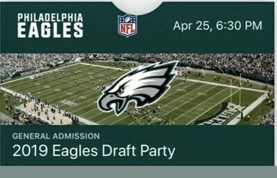 2019 Philadelphia Eagles Draft Party Tickets 4/25 Lincoln Financial Field