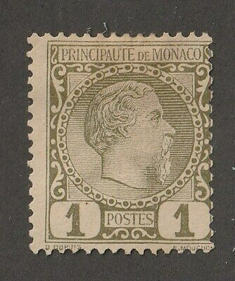 Monaco stamp #1, MH, from 1885, CV $25