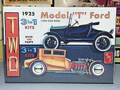 "Amt/round2 1925 Model ""t"" Ford Double 2 In 1 #amt626 Mpc 1/25 Factory Sealed Kit"
