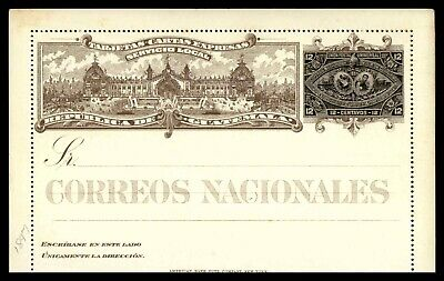 Guatemala 12 Cent Servicio Local Exrpresas Postal Stationery Letter Card