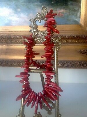 Stunning CORAL Necklace 68 cm