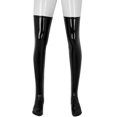 3ff2313cbadcb Men&Women Latex Long Stockings Wet Look Thigh High Boots Socks Costume  Cosplay