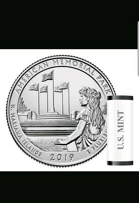 "2019 S American Memorial Park Quarter Northern Mariana Islands ""BU""."