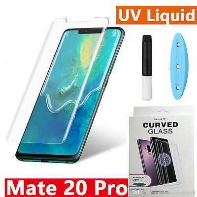 Full UV Glue Curved Liquid Tempered Glass For Huawei Mate 20 PRO/Mate 20 PRO US