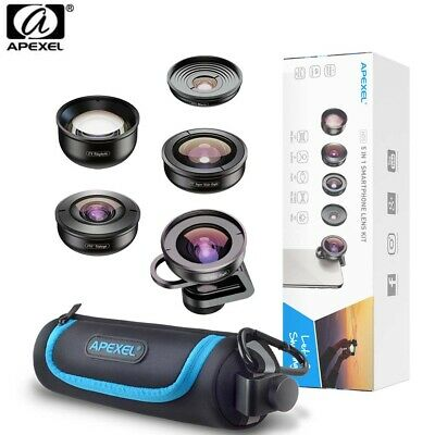 Apexel APL-HD5V2 5 IN 1 4K Lens Kit for Smartphone Iphone, Huawei, Oppo