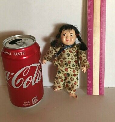 Old Antique Vintage Chinese Asian Small Doll Handmade Collectible