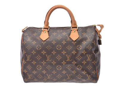 520a505e481a Authentic Louis Vuitton Monogram Speedy 30 Brown M41526 Ladies  805000924922000