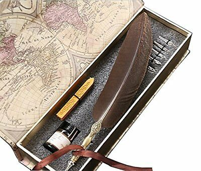 2 Pack Calligraphy Pen set Mysterious Like Amber Edge Beautiful Feather Pen