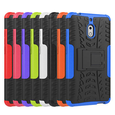 For Nokia 2.1 Heavy Duty Rugged Tough Kickstand Shockproof Strong Case Cover
