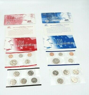 1999 P and D United States Mint Uncirculated Coin Set BU Annual Set Complete