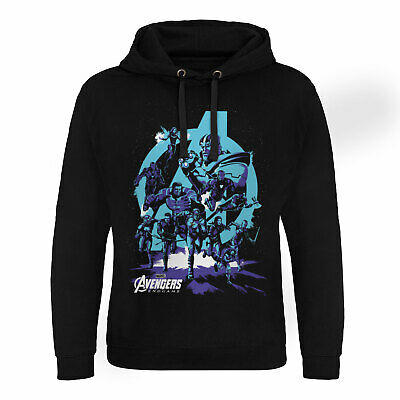Official Licensed Avengers - Thanos Grip Endgame Epic Hoodie S-XXL Sizes (Black)