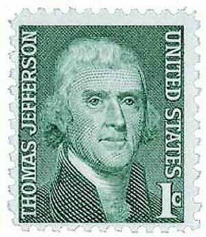1 Cent 1968 Thomas Jefferson Unused Postage Stamp USA USPS .01 w/ FAST Shipping!