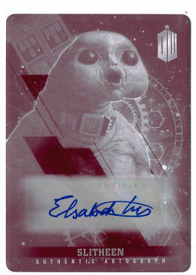 Doctor Who 2015 Autograph Printing Plate Magenta 1/1 Elizabeth Fost as Slitheen