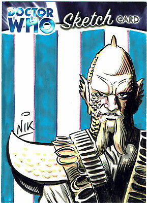 Doctor Who Colour Sketch Card 1/1 Nik / Nick Neocleous - Draconian