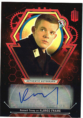 Doctor Who Extra Terrestrial Autograph Russell Tovey as Alonso Red Parallel #4/5
