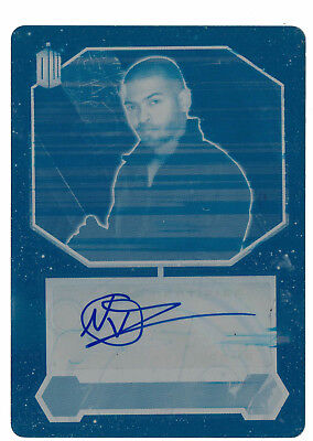 Doctor Who 2015 Autograph Printing Plate Cyan 1/1 Noel Clarke as Mickey Smith