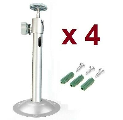 """302A Sunvision Turn-to-Tighten 3.5/"""" Chrome CCTV Camera Mounting Bracket"""