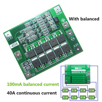 2S 3S 4S PCB BMS Li-ion Lithium Battery 18650 Charger Module Protection Board