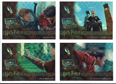 Harry Potter Sorcerer's Stone Box Topper Chase Card Set 4 Cards BT1 to BT4 RARE