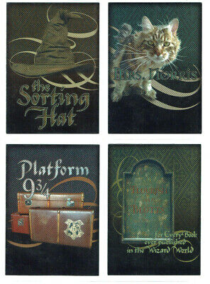 Harry Potter and the Chamber of Secrets Box Topper Chase Card Set 4 Cards