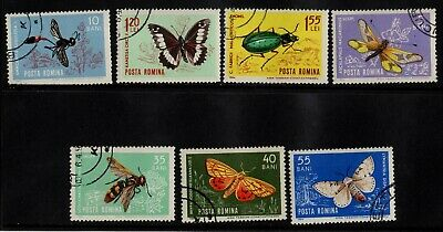1964 ROMANIA(insects)STAMP(F.USED) S.G.3126-3132