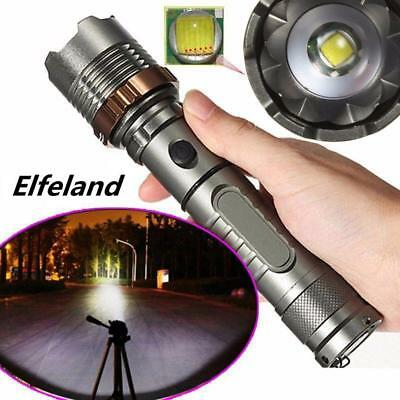 Elfeland Tactical Military T6 Flashlight LED Rechargeable Zoomable Torch BG