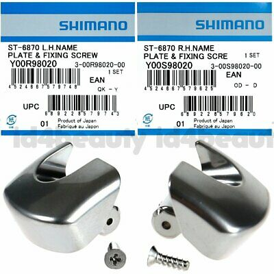 Shimano Ultegra Di2 Di-2 ST-6870 Right Hand Lever Name Plate /& Fixing Screw