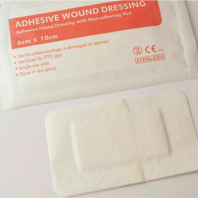 5pcs Non Woven Medical Adhesive Wound Dressing Large Band Aid Bandage 6 10cm