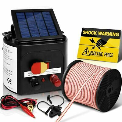 Giantz 3km Solar Electric Fence Energiser Energizer Charger 0.1J Farm Poly Tape
