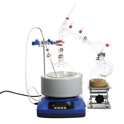 2L/5L Distillation Apparatus Lab Essential Oil w/Magnetic Stirring Heating kits