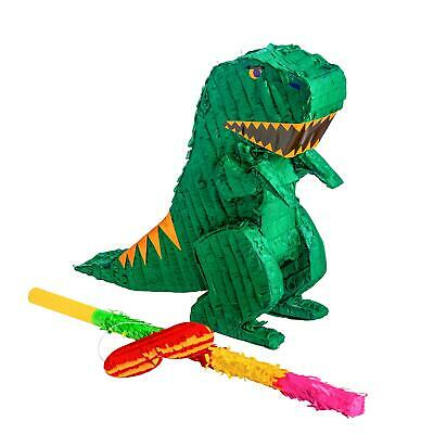 Dinosaur Pinata + Buster Stick & Blindfold Set Toy Party Supplies Birthday