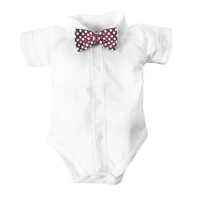 BNWT Baby Boy Shirt Bodysuit Smart Vest with BOW Christening Birthday Wedding