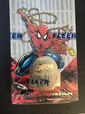 1994 Fleer Marvel Universe First Ed Trading Cards Factory Sealed Box, Spider-Man