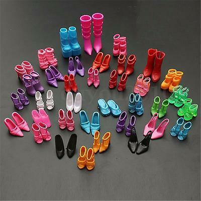 120pcs Mixed Different High Heel Shoes Boots for Barbie Doll Dresses Clothes m