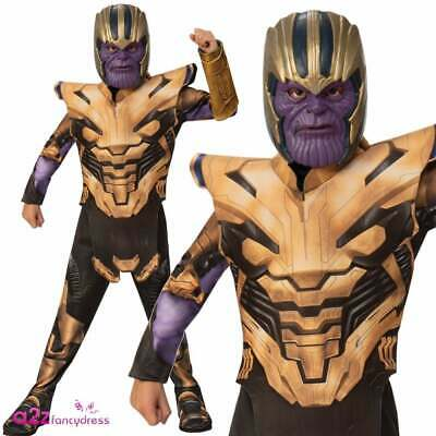 Boys Thanos Costume Marvel 2019 AVENGERS ENDGAME Superhero Villain Fancy Dress