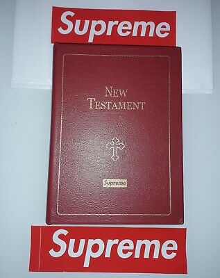 Supreme x GOD bible new testament VERY RARE FW13 bibbia Zippo Knife key book