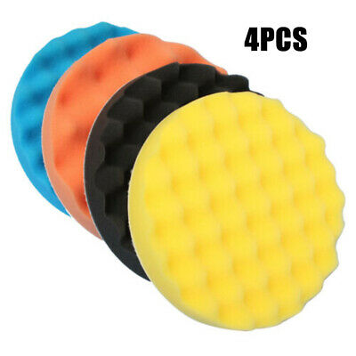 Polishing Pads Hook And Loop Accessories Compound 4pcs 180mm Sponge Car Auto