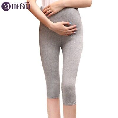 Women's Maternity over the bump adjustable waist leggings in two colours