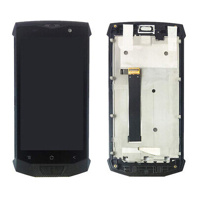 OEM LCD Screen and Digitizer Assembly Part with Frame for BlackView BV8000 Pro