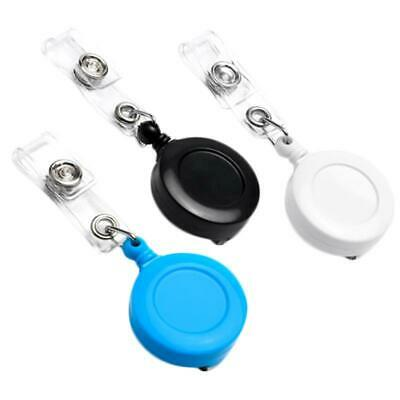 Retractable Badge Holder Reel Card Business Security ID Pull Key Tag Clip