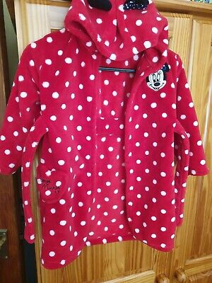 childrens minnie mouse dressing gown size 18-24 months