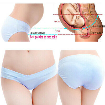 Pregnant Women Soft Cotton Short Underwear Underpants Maternity Knickers Panties