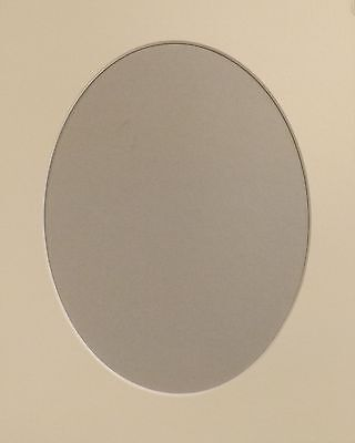 "4 x 8"" x 6"" Oval Aperture, Soft White 10/ 8"" O/Size Photo/Picture Mount Card."