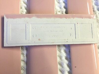 🎀 12 PEACHY PINK 2 X 6 Ceramic BORDER Bullnose Tile H&R Johnson VINTAGE