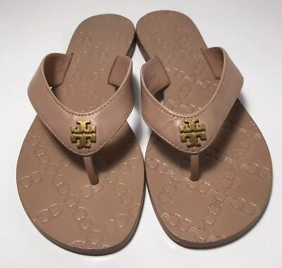29838114f3a1 Tory Burch Monroe Thong Flip Flops Sandals Color light Makeup Size 5 Reg   138