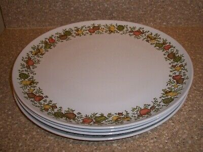 Vintage Centura by Corning Spice of Life Lot of 4 Dinner Plates USA FREE SHIP