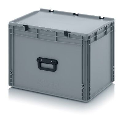 Euro Containers 60x40x43, 5 with Grip and Lid Stacking Eurobox 600x400x435