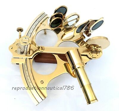 Collectible handmade Solid Brass Sextant Nautical Astrolabe Sextant Vintage Gift