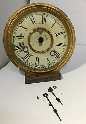 Antique Vintage New Haven Clock Co USA Clock Parts - Face / Dial, Hands Fittings
